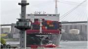 Uplovljavanje kontejnerskog broda tvrtke APL u luku Hamburg / Autor: István Szloboda