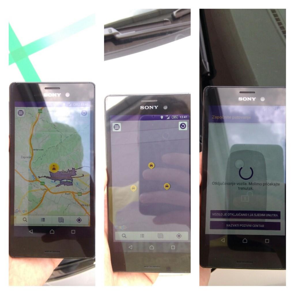 Na Spin City aplikaciji smo pronašli auto, rezervirali ga i otključali virtualnim ključem