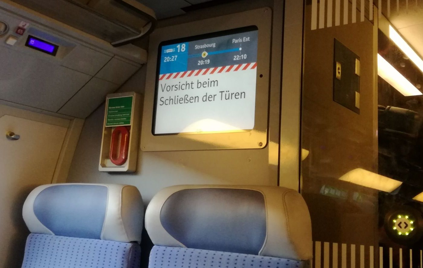 Unutrašnjost TGV-a / Foto: Dolores Šupljika