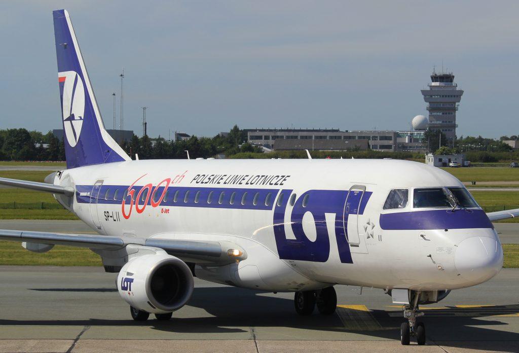 Zrakoplov E-170 poljskog avioprijevoznika LOT