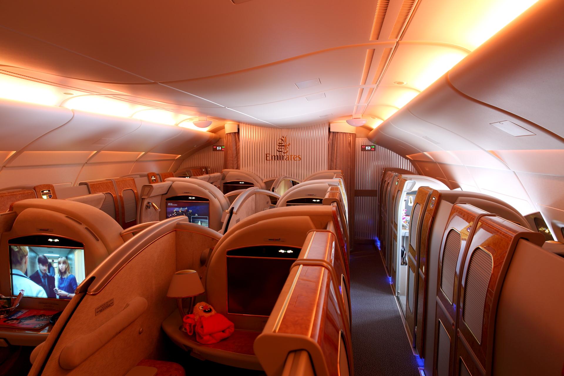Luksuzni izgled kabine prve klase