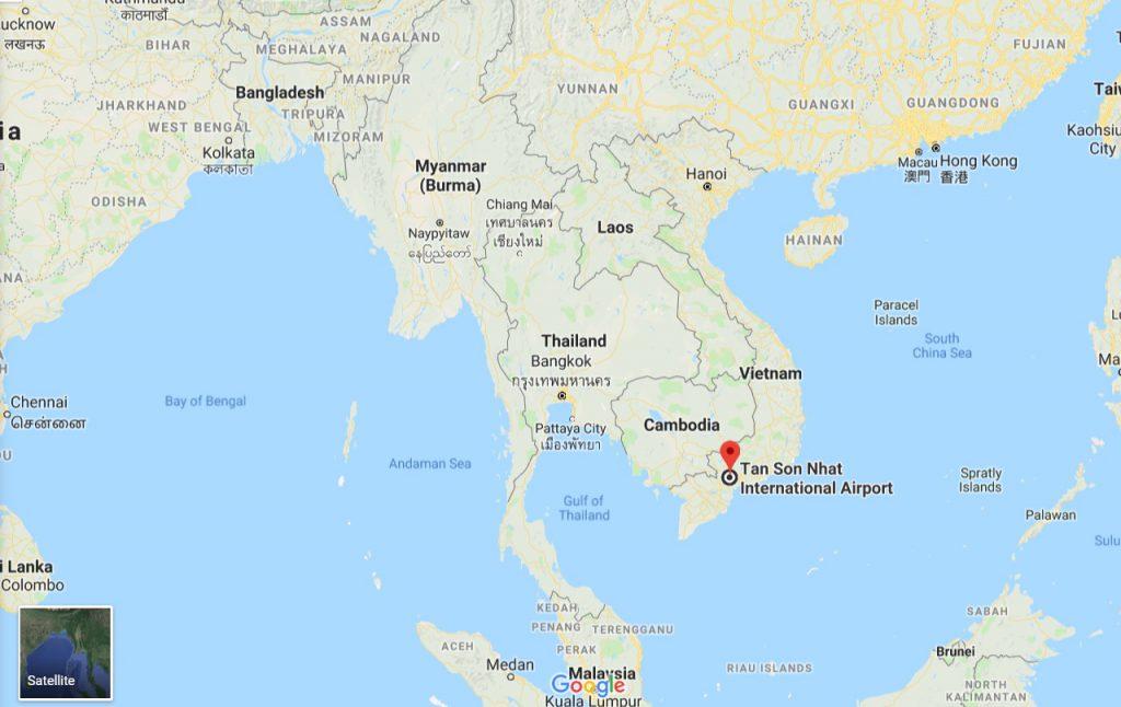 Položaj zračne luke Tan Son Nhat