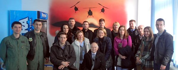 Djelatnici Zavoda za aeronautiku u posjetu Eskadrili helikoptera