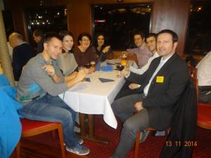 Druženje na službenoj večeri s kolegama sa Saobraćajnog fakulteta u Beogradu
