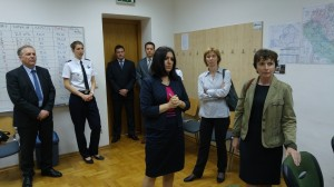 Prof. Biljana Juričić presenting the Laboratory for air traffic control.