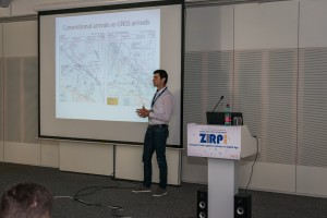 Mr. Petar Andraši presenting his work on the flight test with PBN concept.