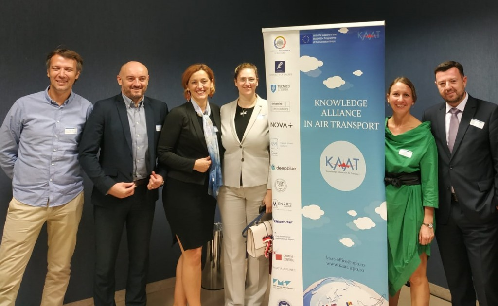 Croatian KAAT team at the Conference (from left to right): Marin Pušić (Croatia Airlines), Teo Bratinčević (Croatia Control), Kristijana Malić (Croatia Airlines), Bojana Šobat (Croatia Control), Ana Dlesk (Croatia Airlines), and Doris Novak (UNIZG)