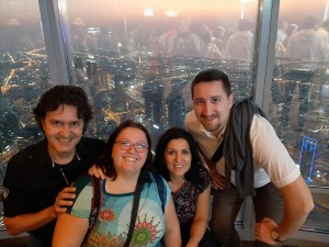 ESTU & ZFOT ATCOSIMA team members atop the Burj Khalifa